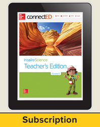 Inspire Science Grade 5, Online Teacher Center, 6-Year Subscription