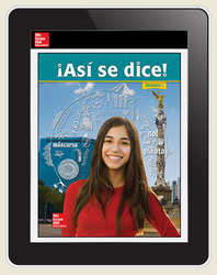 Asi se dice! Level 1, Cerego, Teacher Embedded Add-On, 1-year subscription