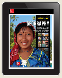 Geography: The Human and Physical World, LearnSmart, Student Edition, Embedded, 1-year subscription