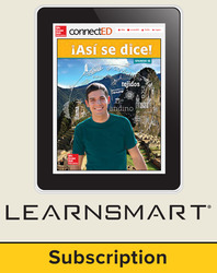 Asi se dice Level 1B, Student Learning Center with LearnSmart Bundle, 6-year subscription