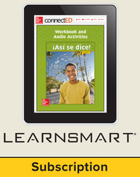 Asi se dice Level 3, Student Learning Center with LearnSmart Bundle, 1-year subscription