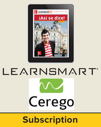 Asi se dice Level 2, Student Learning Center with LearnSmart and Cerego Bundle, 6-year subscription