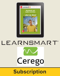 Asi se dice Level 3, Student Learning Center with LearnSmart and Cerego Bundle, 6-year subscription