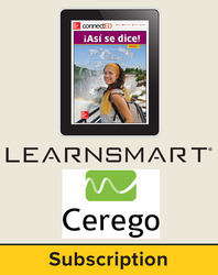 Asi se dice Level 4, Student Learning Center with LearnSmart and Cerego Bundle, 6-year subscription