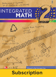 Integrated Math, Course 2, Online Teacher Edition, 1-year Subscription