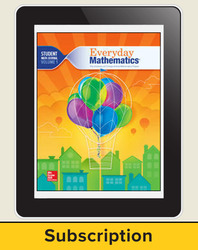 Everyday Mathematics 4, Grade 3, All-Digital Student Material Set, 1 Year