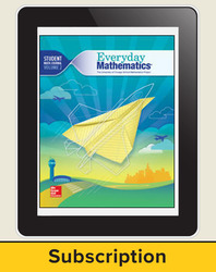 Everyday Mathematics 4, Grade 5, All-Digital Student Material Set, 1 Year