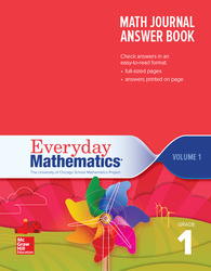 Everyday Mathematics 4th Edition, Grade 1, Math Journal Answers Teacher Book Volume 1