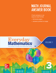 Everyday Mathematics 4th Edition, Grade 3, Math Journal Answers Teacher Book Volume 1