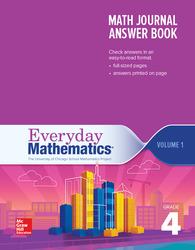 Everyday Mathematics 4th Edition, Grade 4, Math Journal Answers Teacher Book Volume 1