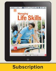 Glencoe Managing Life Skills, Online Teacher Center, 1 year subscription