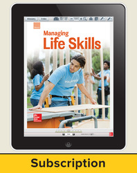Glencoe Managing Life Skills, Online Teacher Center, 1 year subscription