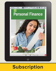 Glencoe Personal Finance, Online Teacher Center, 1 year subscription