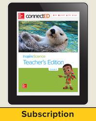 Inspire Science Grade K, Online Teacher Center, 6-Year Subscription