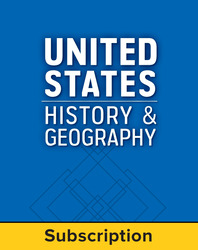 United States History and Geography: Modern Times, LearnSmart, Teacher Edition, Embedded, 1-year subscription