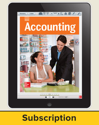 Glencoe Accounting, Online Student Edition, 1 year subscription