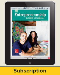 Glencoe Entrepreneurship: Building a Business, Online Teacher Center, 1 year subscription