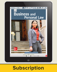 Glencoe Business and Personal Law, Online Student Edition, 6 year subscription
