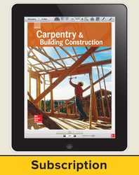 Glencoe Carpentry and Building Construction, Online Teacher Center,  6 year subscription