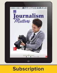 Glencoe Journalism Matters, Online Teacher Center, 1 year subscription