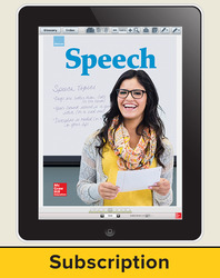 Glencoe Speech, Online Student Edition, 1 year subscription
