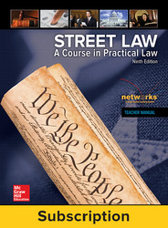 Street Law: A Course in Practical Law, Online Student Edition, 1-Year Subscription