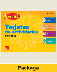 Maravillas Workstation Activity Cards Package, Grade 6