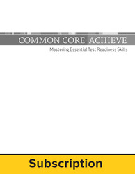 Common Core Achieve Online Plus LearnSmart®  Achieve HiSET Adaptive Test Prep, 1-year subscription (includes all 4 subjects)