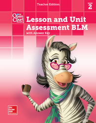 Open Court Reading, Grade K, Lesson and Unit Assessment BLMs with Answer Key, Book 2
