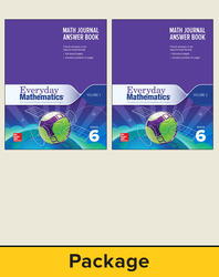Everyday Mathematics 4, Grade 6, Journal Answer Books (Vol 1 & 2)