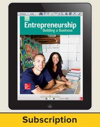 Glencoe Entrepreneurship: Building a Business, Online Student Edition, 6 year subscription
