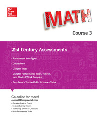 Glencoe Math, 21st Century Assessments, Course 3
