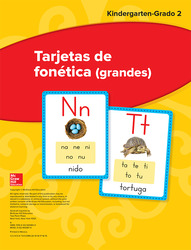 Maravillas Sound Spelling Large Cards, Grades K-2