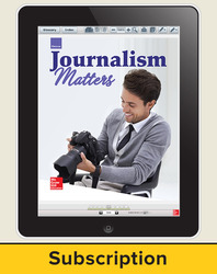Glencoe Journalism Matters, Online Student Edition, 6 year subscription