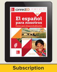 El Español para Nostros Level 1  2014 Online Teacher Edition 6 year subscription