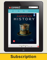 Brinkley, American History: Connecting with the Past, AP Edition ©2015 15e, Connect®, 1-year subscription