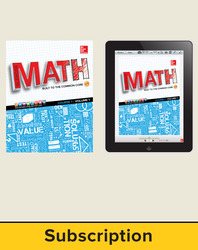 Glencoe Math, Course 1, Complete Student Bundle, 1-year subscription