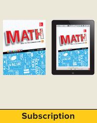 Glencoe Math, Course 1, Complete Student Bundle, 1-year subscription
