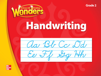 McGraw-Hill Language Arts, Grade 2, Handwriting Cursive Workbook/Blackline Masters