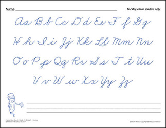McGraw-Hill Language Arts, Grade 3, Handwriting Cursive Workbook/Blackline Masters