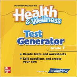 Health and Wellness, Grade 7, Test Generator