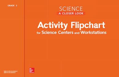 Science, A Closer Look, Grade 3, Activity Flipchart