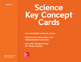 Science, A Closer Look, Grade 3, Key Concept Cards