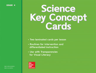 Science, A Closer Look, Grade 4, Key Concept Cards