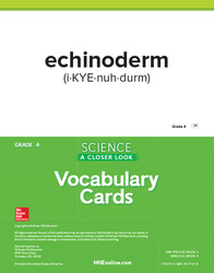 Science, A Closer Look, Grade 4, Science Vocabulary Cards