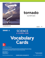 Science, A Closer Look, Grade 6, Science Vocabulary Cards