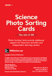 Science, A Closer Look Grade 1, Science Photo Sorting Cards