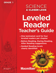 Science, A Closer Look Grade 1, Science Leveled Reader Teacher's Guide'