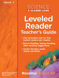 Science, A Closer Look, Grade 3, Science Leveled Reader Teacher's Guide'
