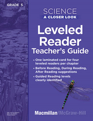 Science, A Closer Look, Grade 5, Science Leveled Reader Teacher's Guide'